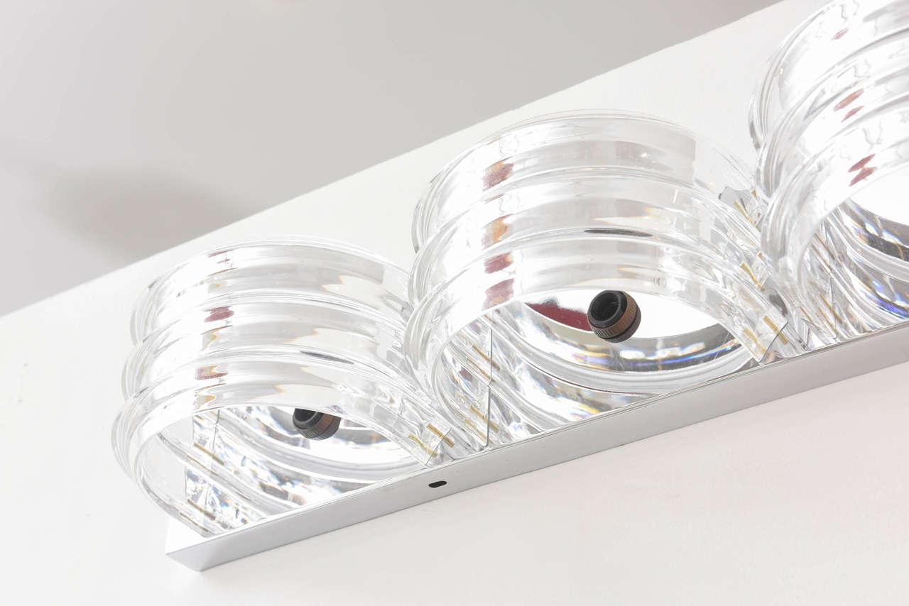 Long vintage lucite flush mount light fixture at 1stdibs for Long ceiling light fixture