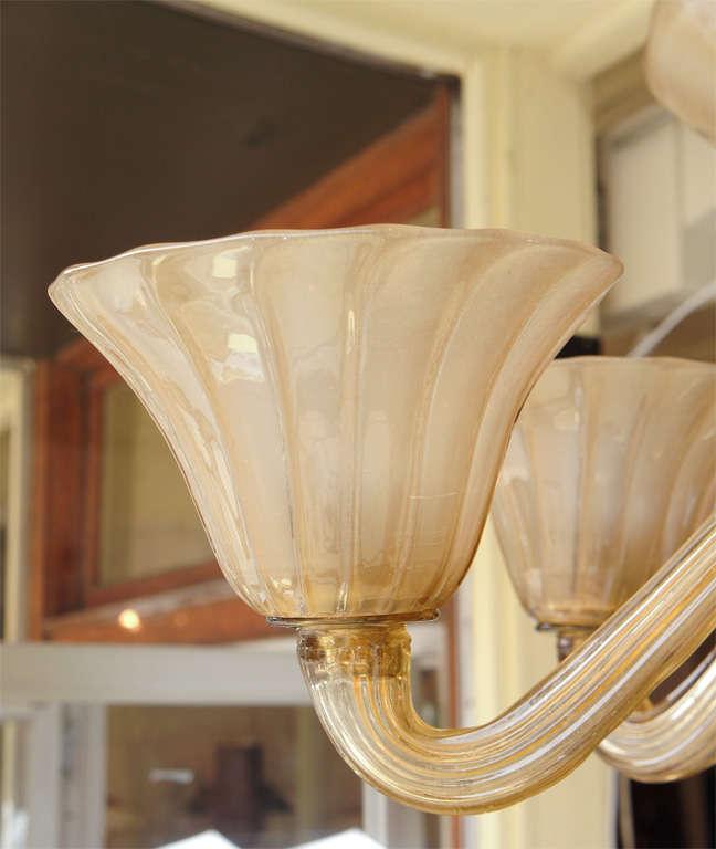 Venetian Glass Chandelier At 1stdibs