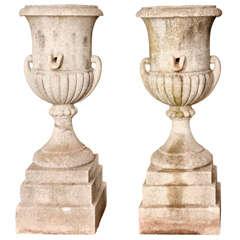 Pair Of Concrete Urns