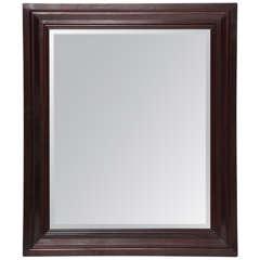 Single French 1940's Oak Mirror
