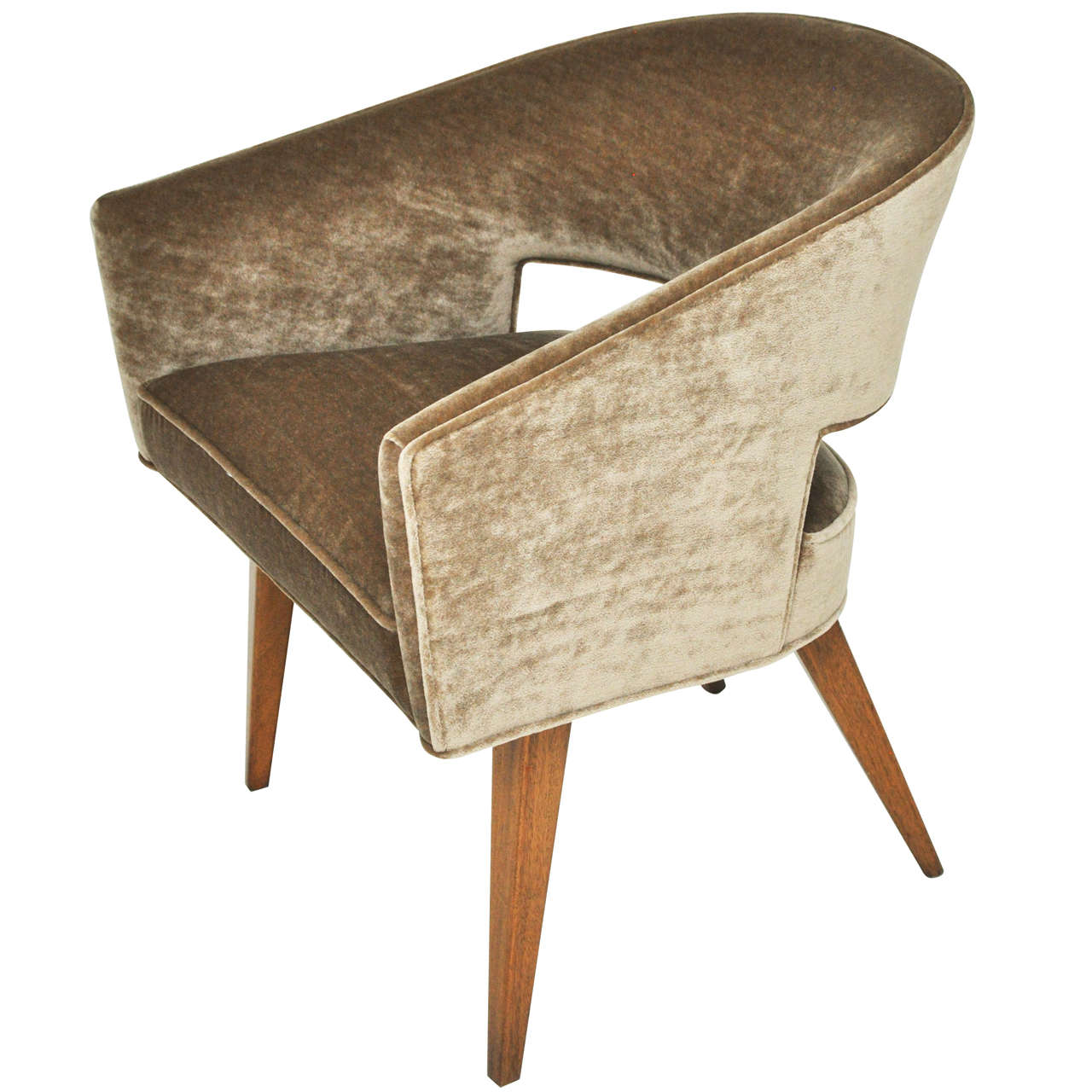 Dunbar open back lounge chair edward wormley at 1stdibs - Edward wormley chairs ...