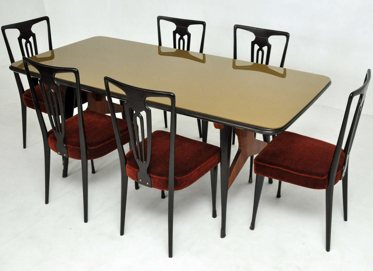 Italian modern dining set at 1stdibs for Italian dining room sets