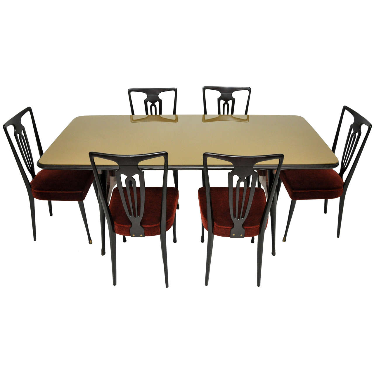 Italian modern dining set at 1stdibs for Contemporary dining set