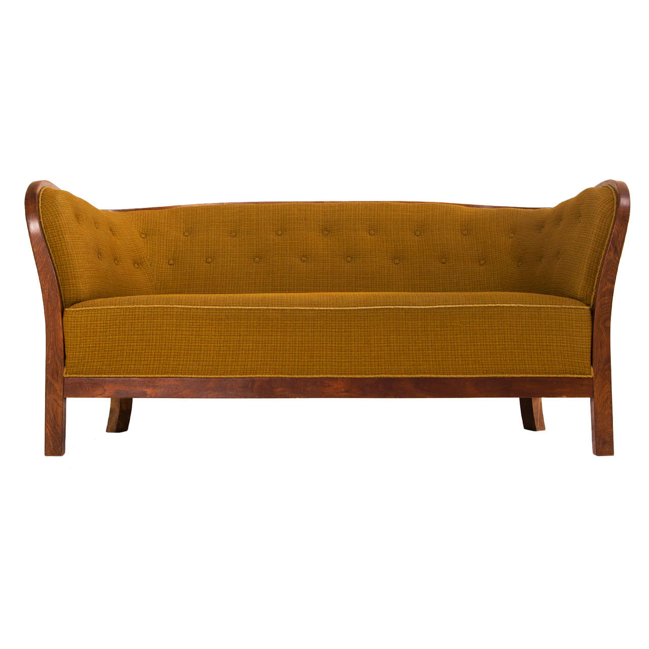 1940s danish art deco sofa for sale at 1stdibs. Black Bedroom Furniture Sets. Home Design Ideas