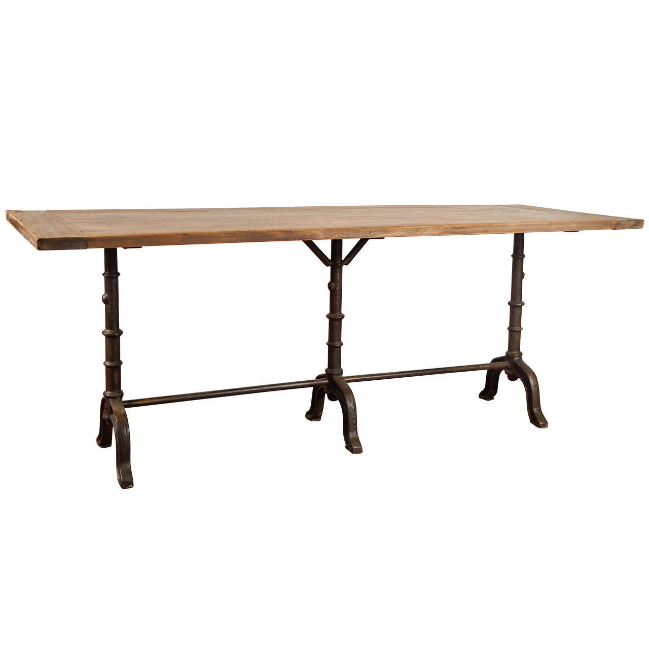 French Country Bistro Dining Table For Sale