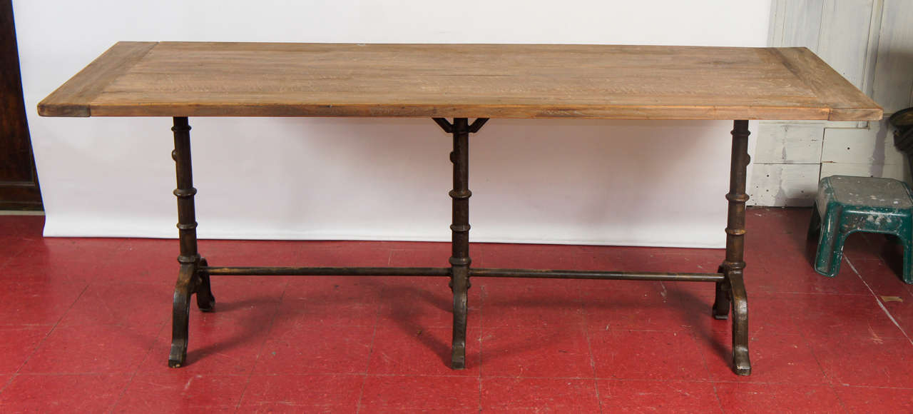 French Provincial French Country Cafe Bistro Dining Table For Sale