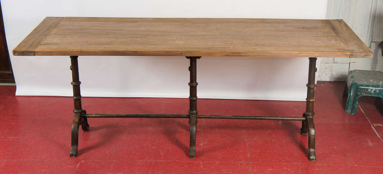 French Country Cafe Bistro Dining Table In New Condition For Sale In Great Barrington, MA