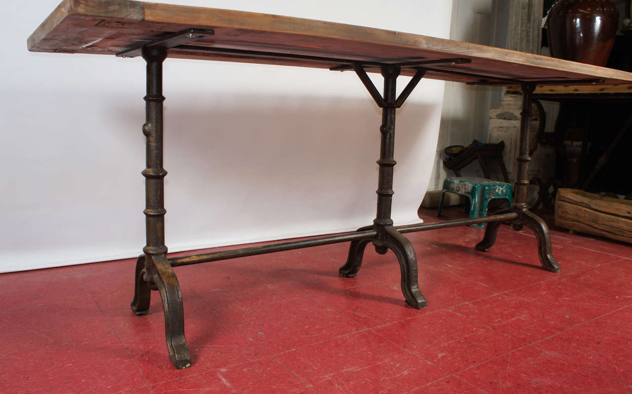French Country Cafe Bistro Dining Table For Sale 1