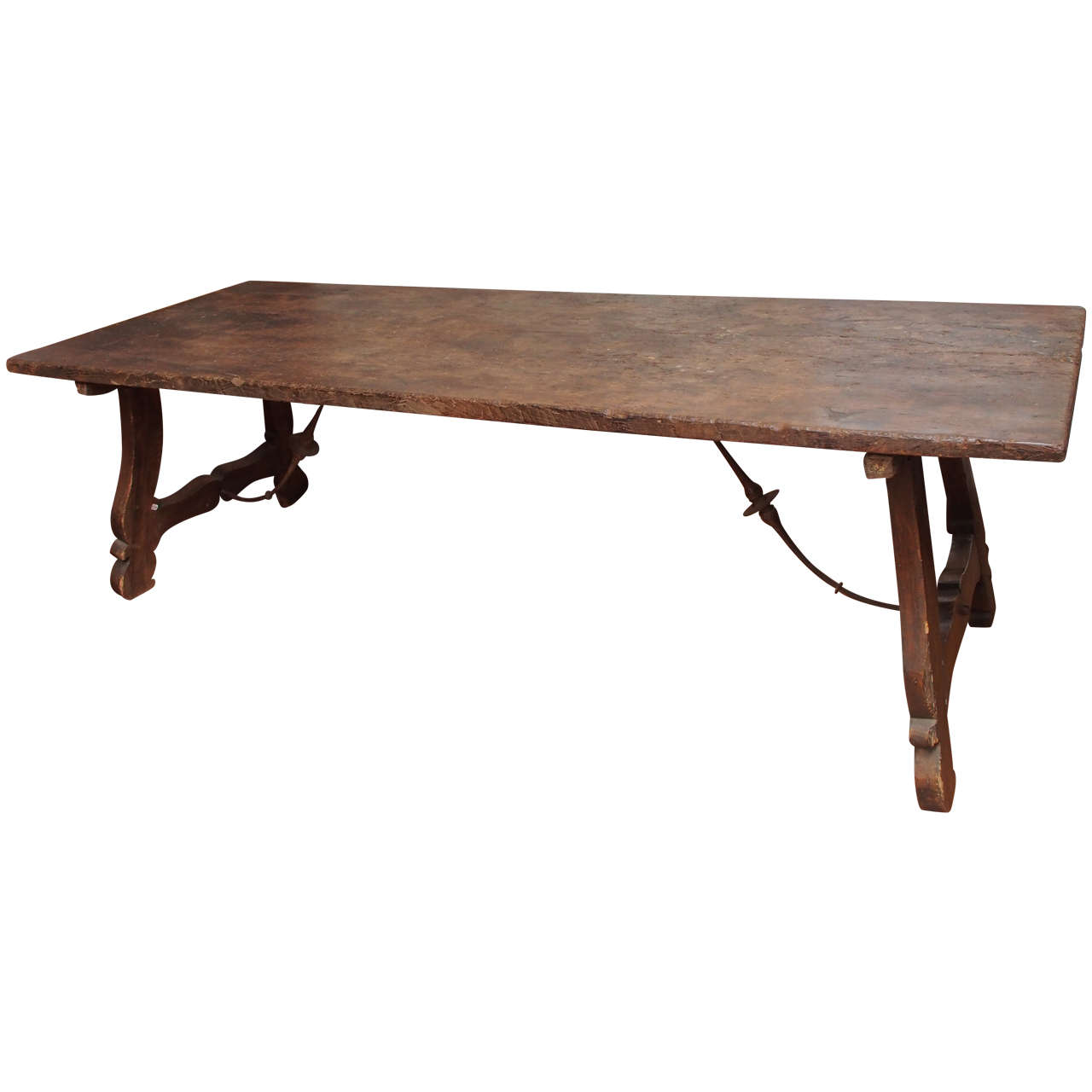 18th century spanish trestle table at 1stdibs for Table in spanish