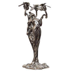 Art Nouveau Figure of a Young Woman