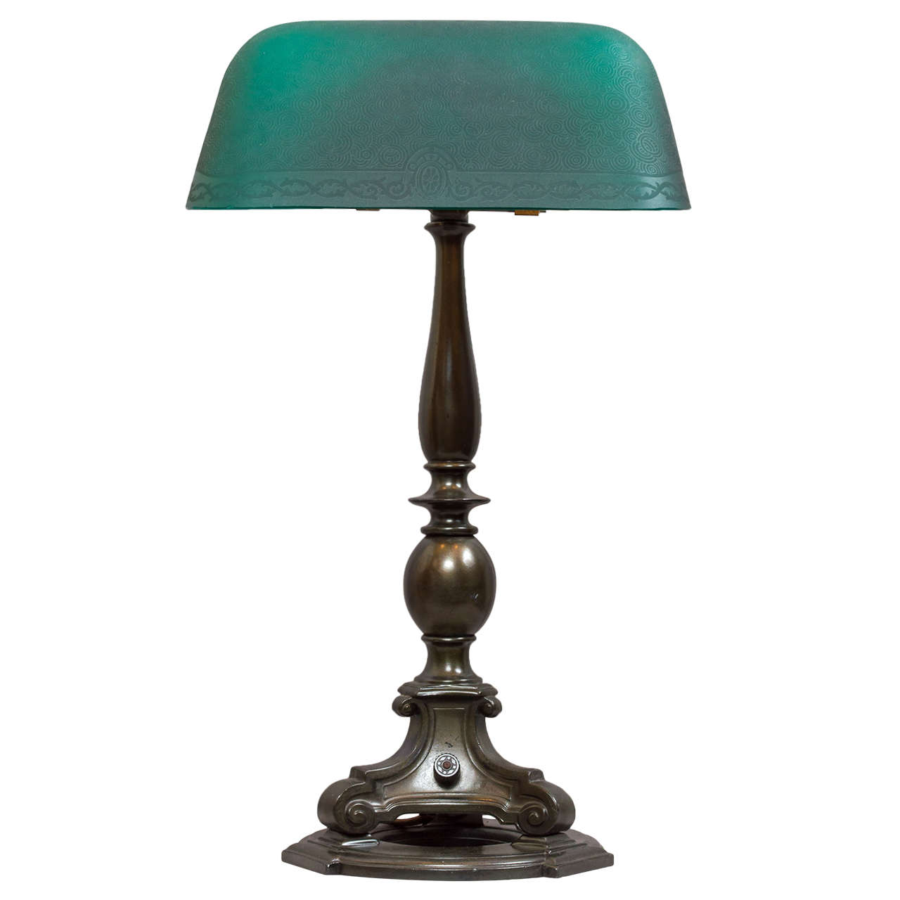 Emeralite Banker\u0027s Style Desk Lamp at 1stdibs