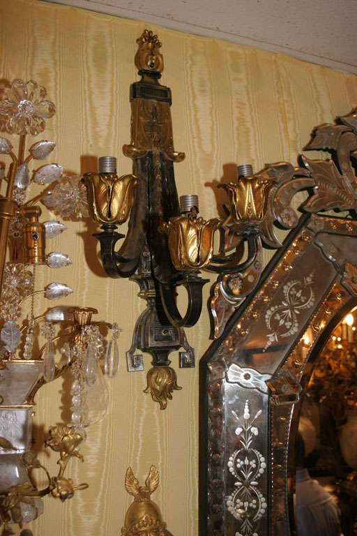 American Pair of Wall Sconces For Sale
