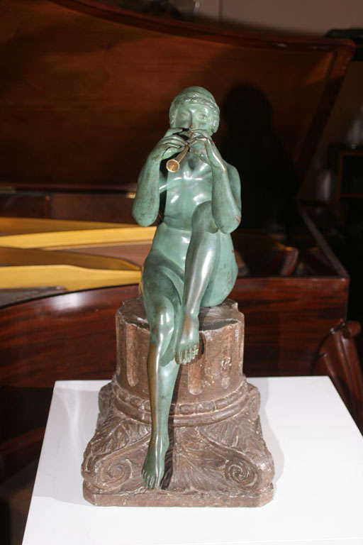 French Art Deco Bronze Sculpture by Maurice Guiraud Riviere For Sale