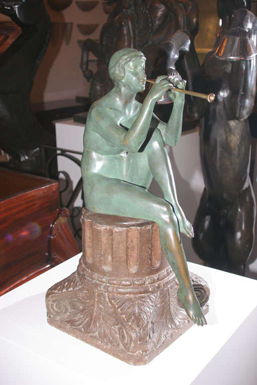 Art Deco Bronze Sculpture by Maurice Guiraud Riviere In Good Condition For Sale In Long Island City, NY