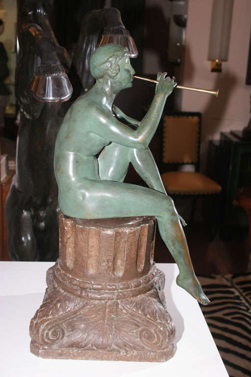 20th Century Art Deco Bronze Sculpture by Maurice Guiraud Riviere For Sale