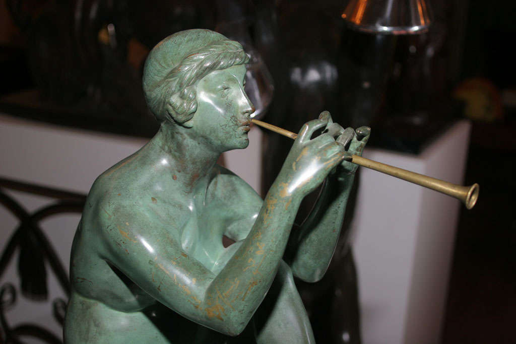 Art Deco Bronze Sculpture by Maurice Guiraud Riviere For Sale 2