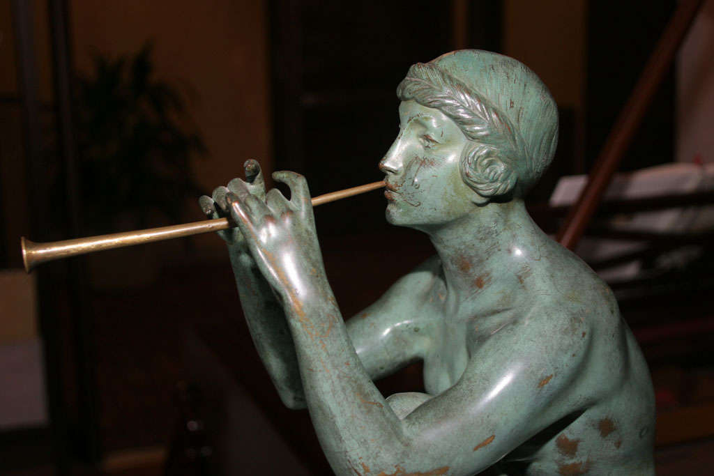 Art Deco Bronze Sculpture by Maurice Guiraud Riviere For Sale 5