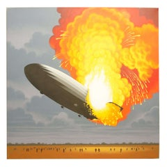 Hindenburg Disaster, Painting by Lynn Curlee
