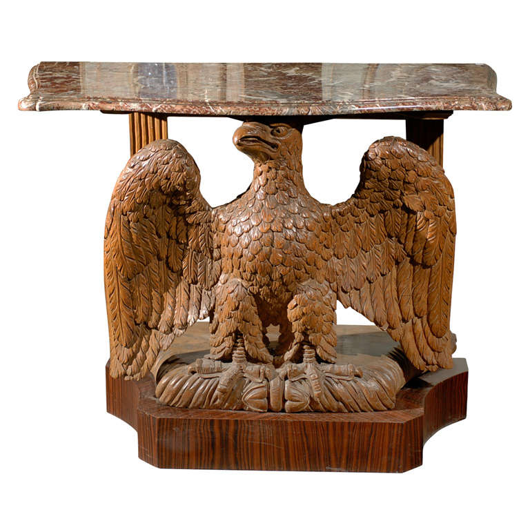 An American Console Table With A Carved Eagle At 1stdibs