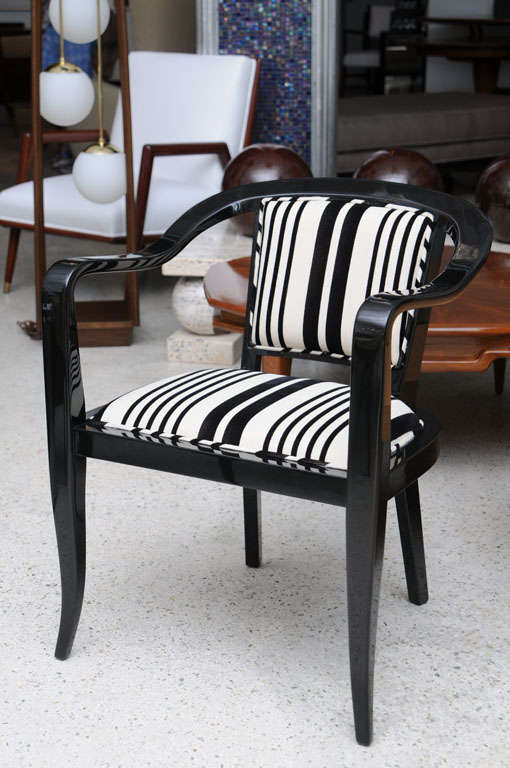 Mid-Century Modern Set of Ten Ebonized Armchairs in the Style of Ed Wormley for Dunbar For Sale