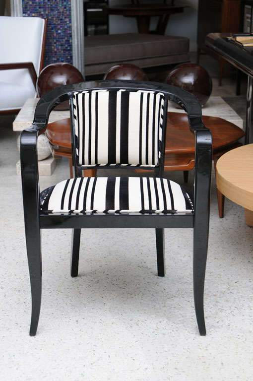 American Set of Ten Ebonized Armchairs in the Style of Ed Wormley for Dunbar For Sale