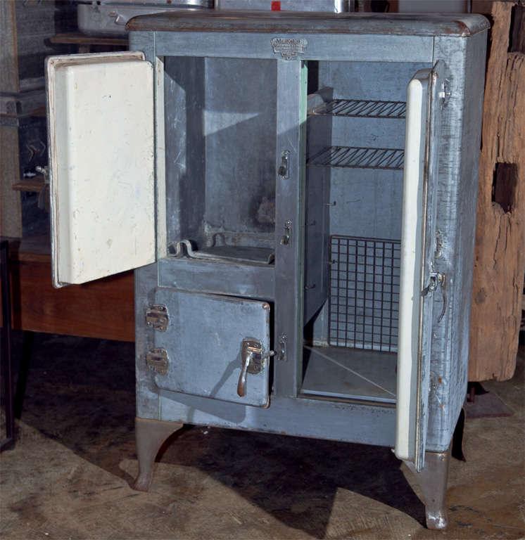 Industrial Metal Clad Ice Box, C. 1920-30 At 1stdibs