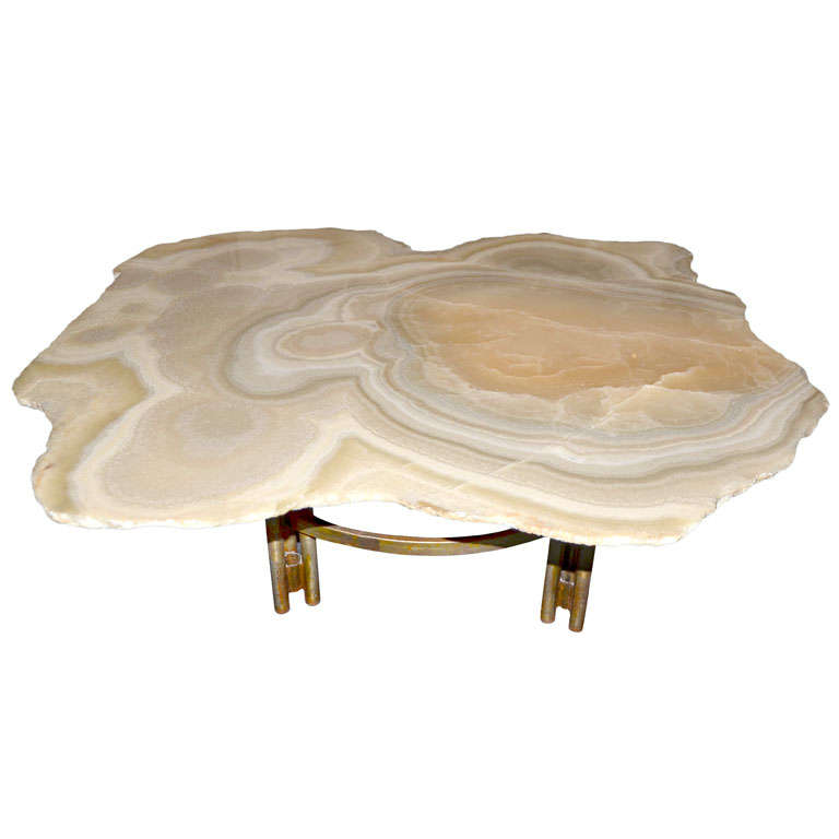 Agate Coffee Table Circa 1970 At 1stdibs