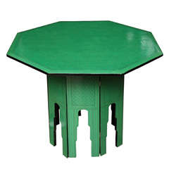Green Octagonal Table