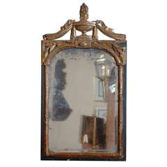 Louis Xvi Period Gilt Wood Mirror With Kissing Doves C