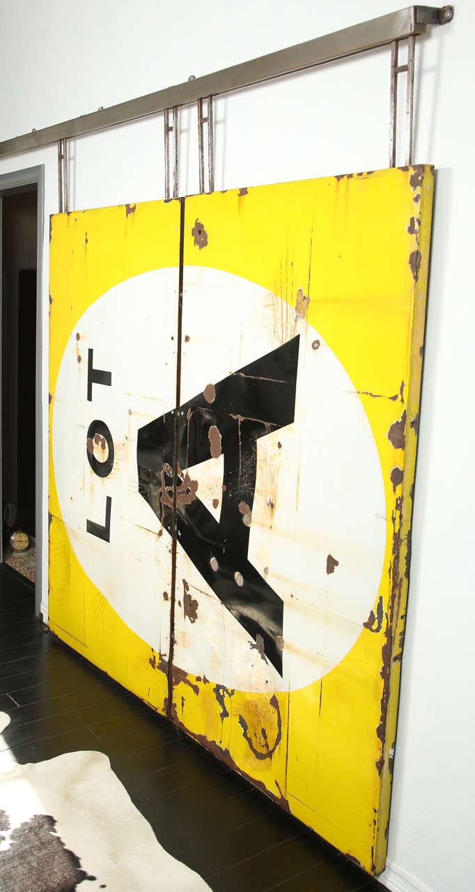 Vintage Industrial Sliding Doors : Paramount studios sliding lot door circa at stdibs