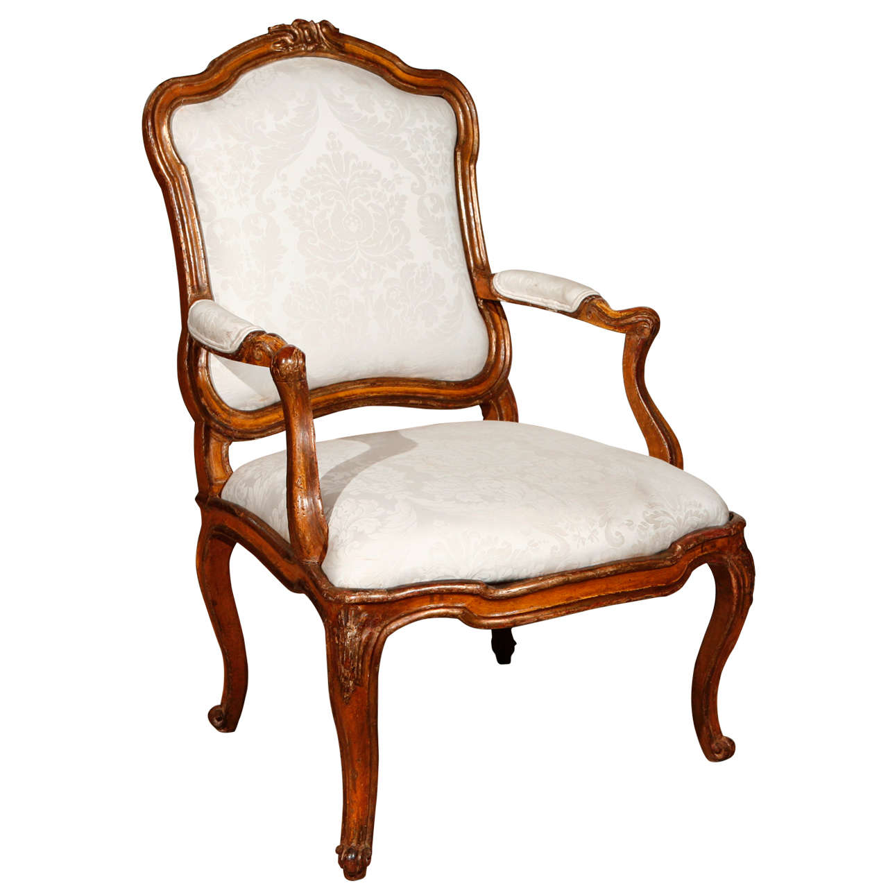 18th C Italian Rococo Style Chair For Sale At 1stdibs