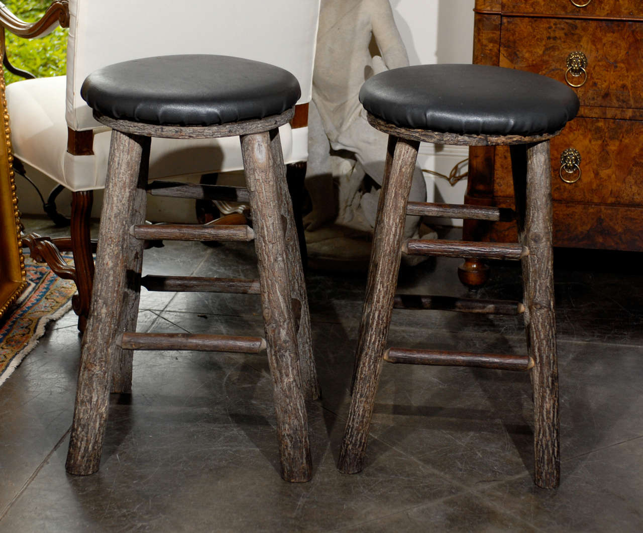 12 Round Vintage Bar Stools 2 : antique bar stools wood - islam-shia.org