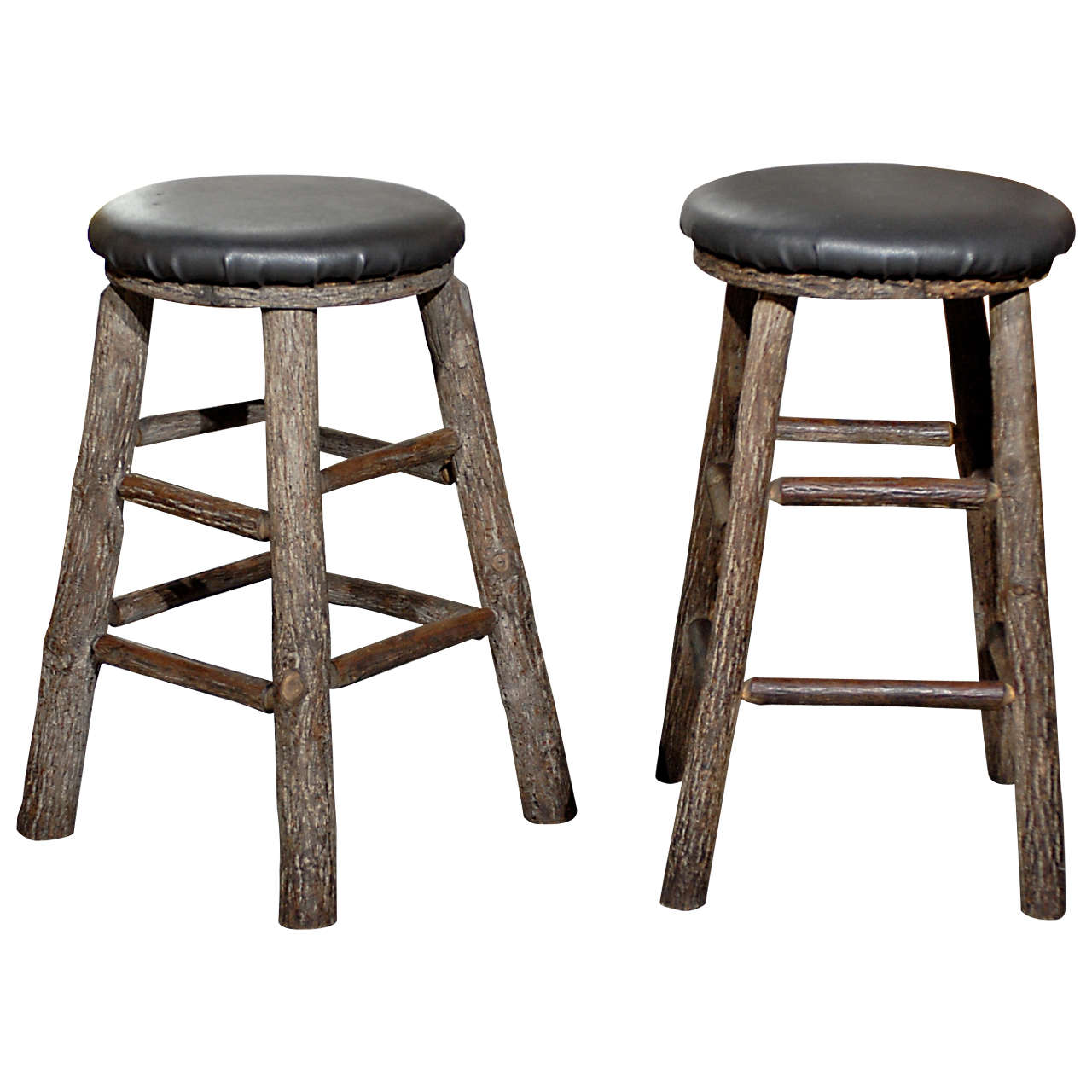 12 Round Vintage Bar Stools For Sale at 1stdibs