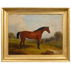 English Painting of Horse in Landscape