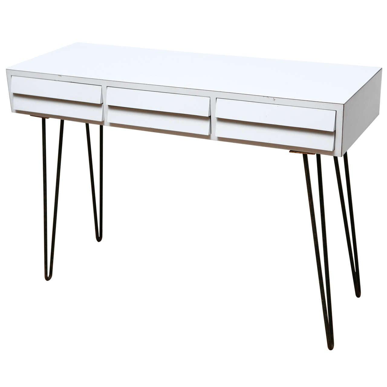 Mid Century Style Desk on Hairpin Legs