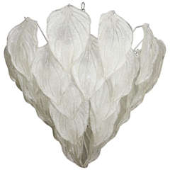 Barovier Murano Glass Leaf Chandelier