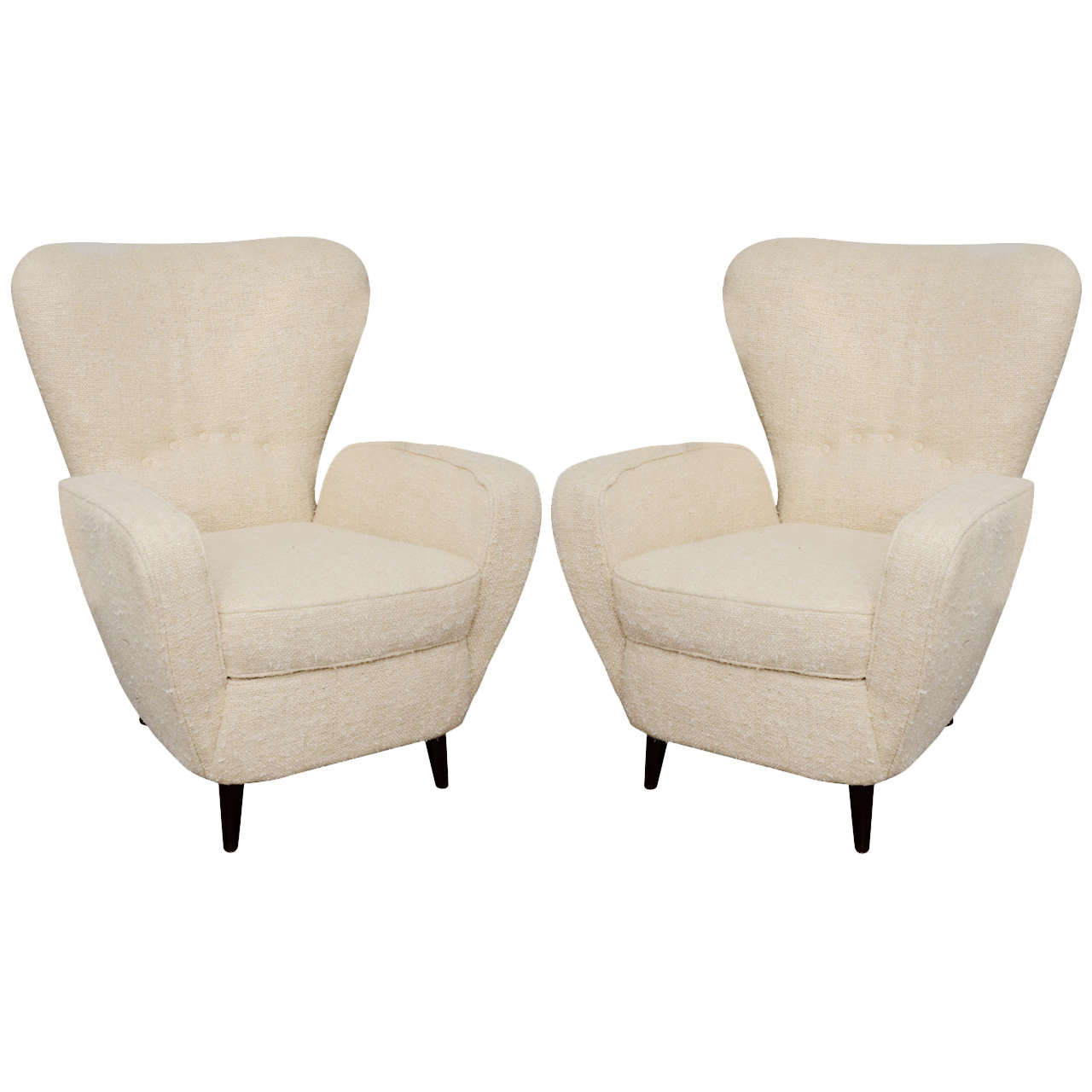 Custom modern chippendale wing chair by ethan allen at 1stdibs - Pair Of Modern Wing Chairs