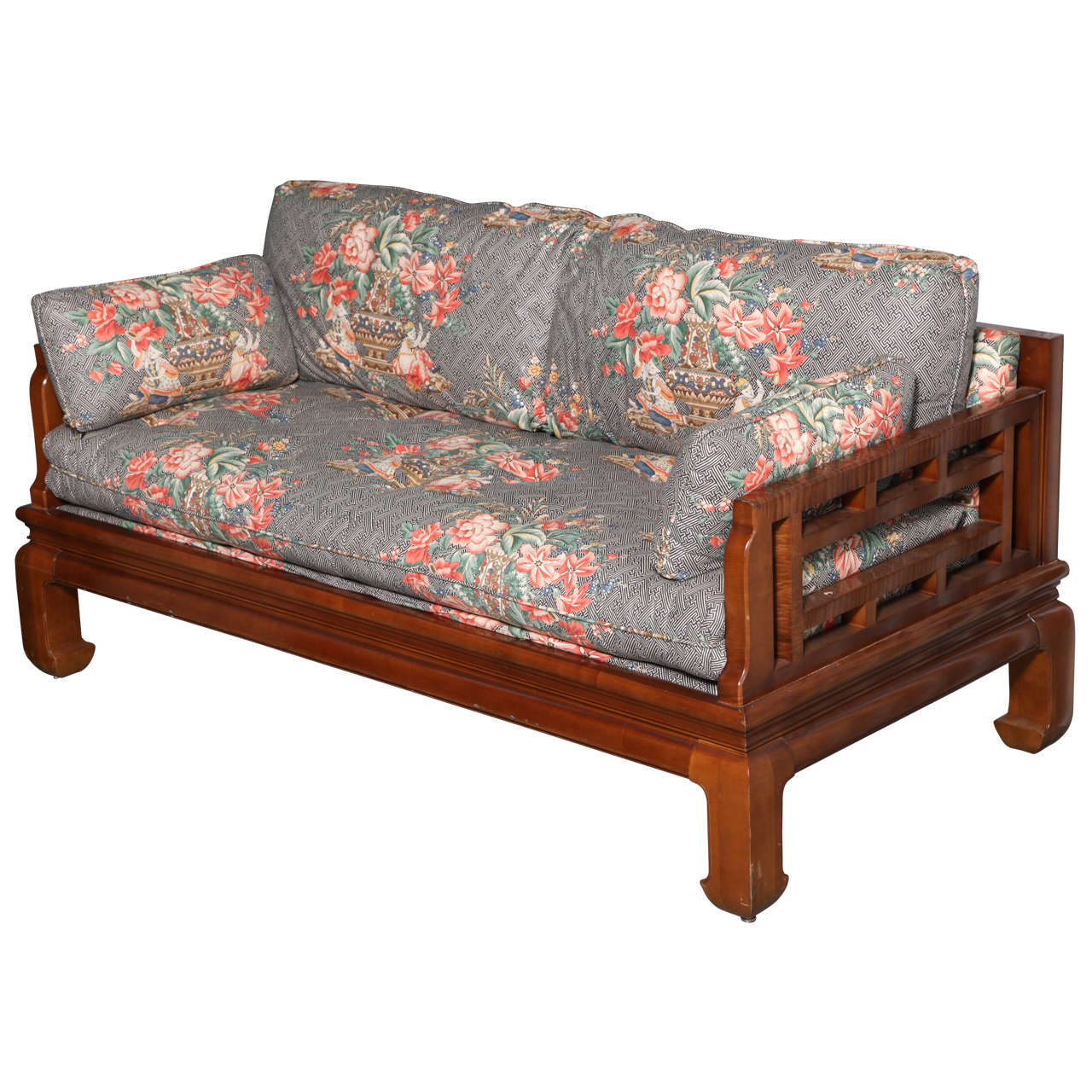 Michael taylor baker furniture asian style sofa at 1stdibs for Furniture sofas and couches
