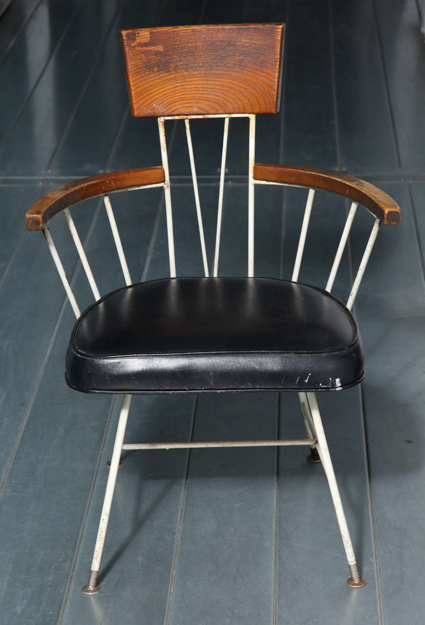 Iron Dining Chairs ~ Richard mccarthy for selrite wrought iron and ash dining