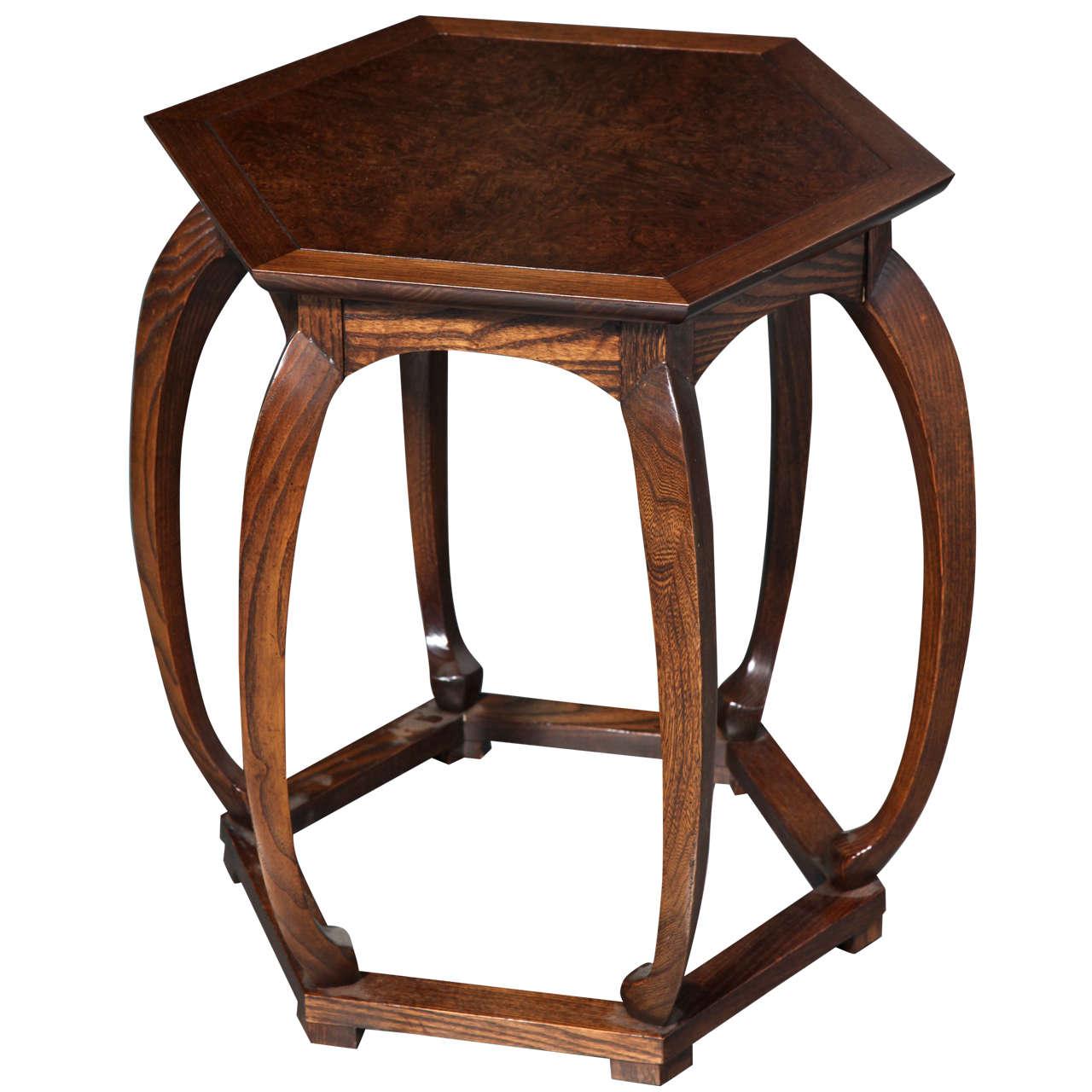 Baker furniture chinese style hexagonal table at 1stdibs for Baker furniture