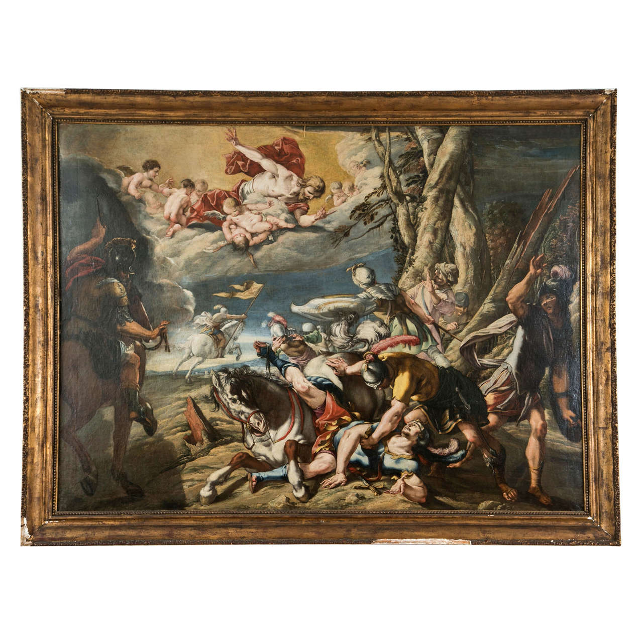 """French Baroque Painting """"Conversion of Saint Paul"""", 17th ..."""