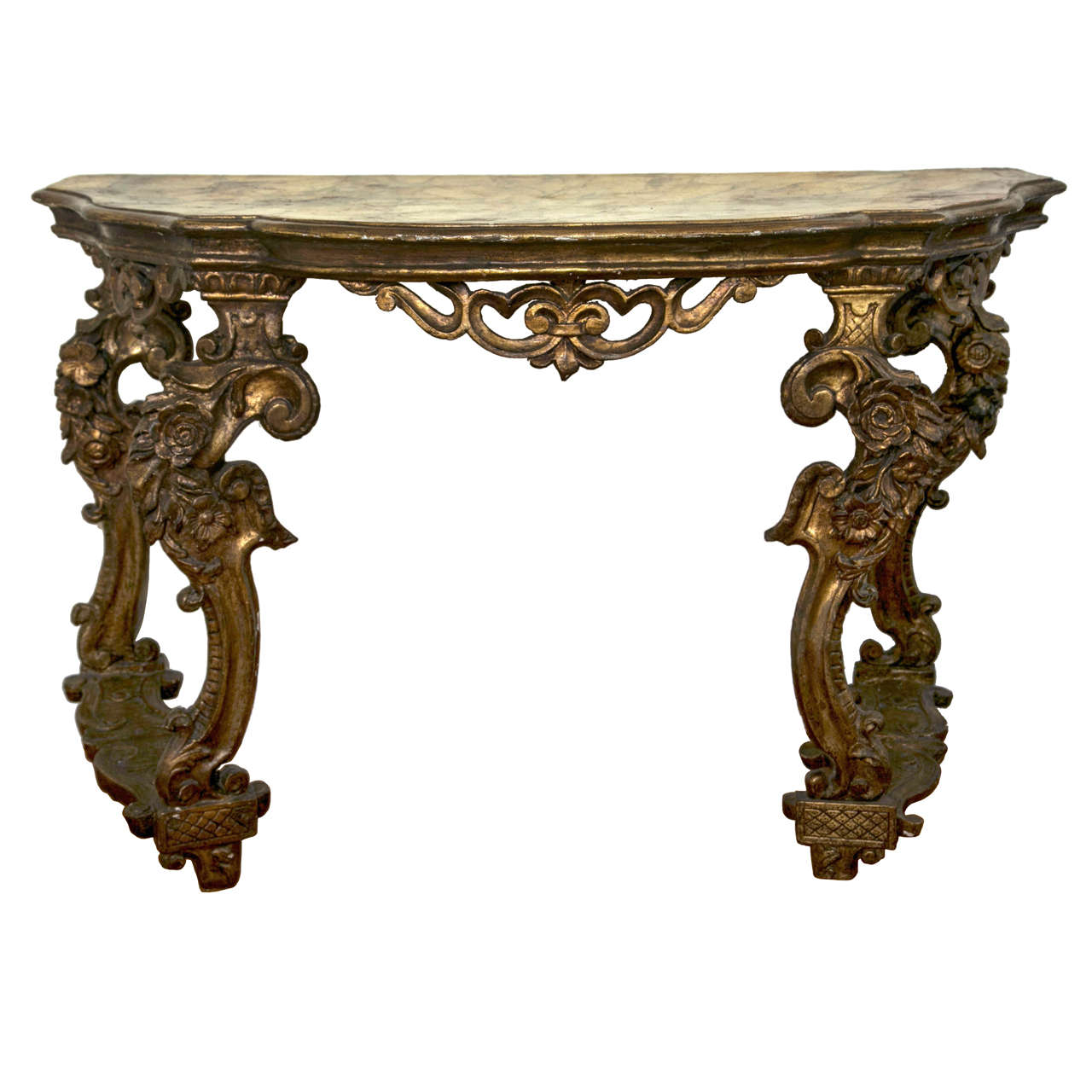 French Console Table 19th century french gilded console table for sale at 1stdibs