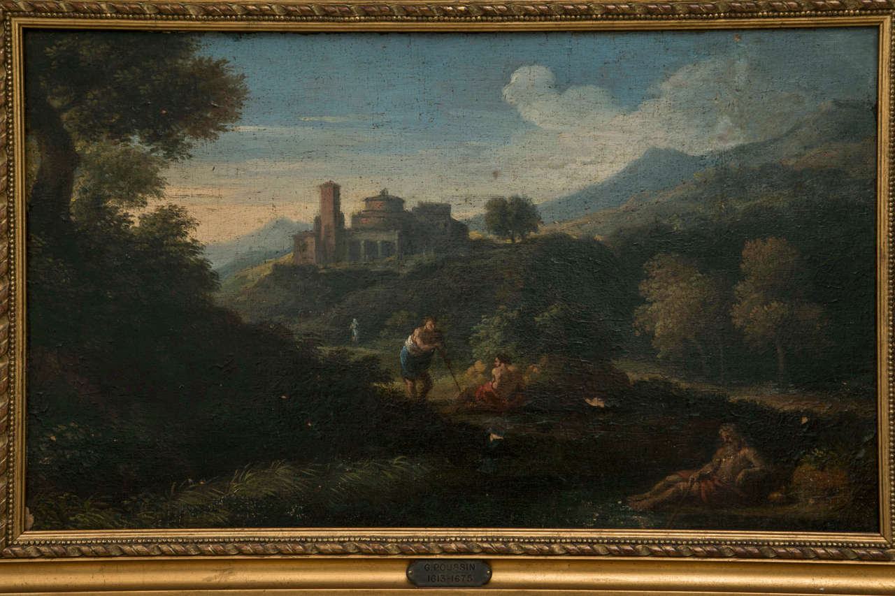 A Late 17th early 18th century Italian landscape with figures of   the Roman Campagna by Jan Frans van Bloemen (Antwerp 12   May 1662 - Rome 13 June 1749) called Orizzonte or Horizzonti,   was a Flemish landscape painter of the Baroque period,