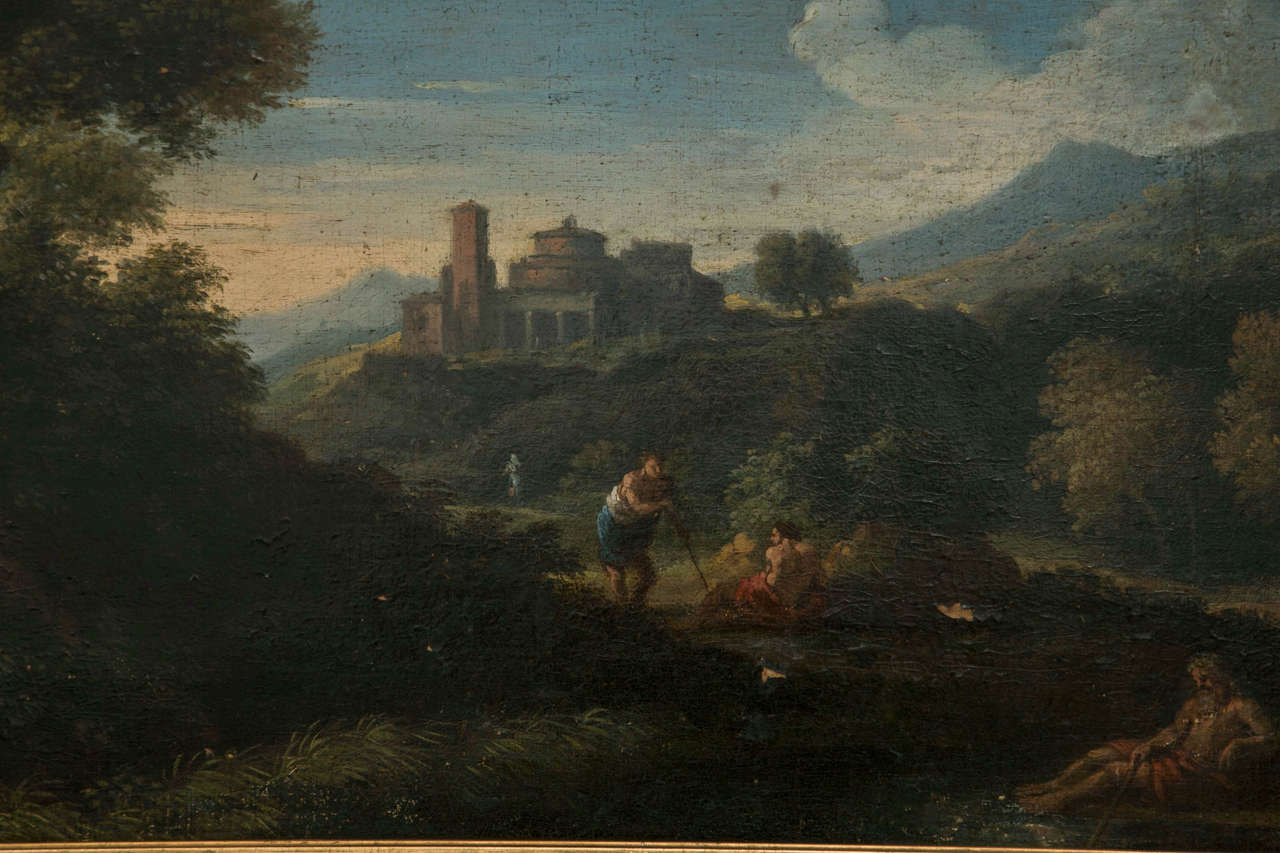 Baroque Jan Frans van Bloemen called Orizzonte (Antwerp 1662-Rome 1749), Roman Landscape For Sale