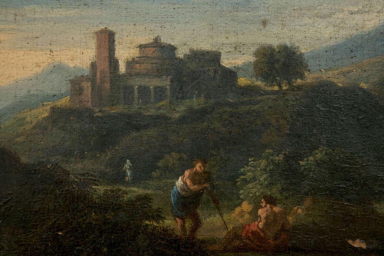 Jan Frans van Bloemen called Orizzonte (Antwerp 1662-Rome 1749), Roman Landscape In Good Condition For Sale In Stamford, CT
