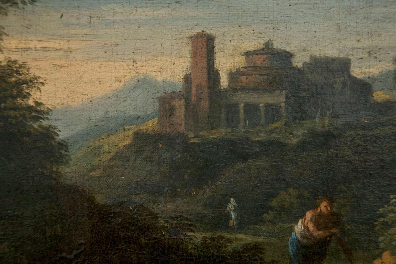 17th Century Jan Frans van Bloemen called Orizzonte (Antwerp 1662-Rome 1749), Roman Landscape For Sale