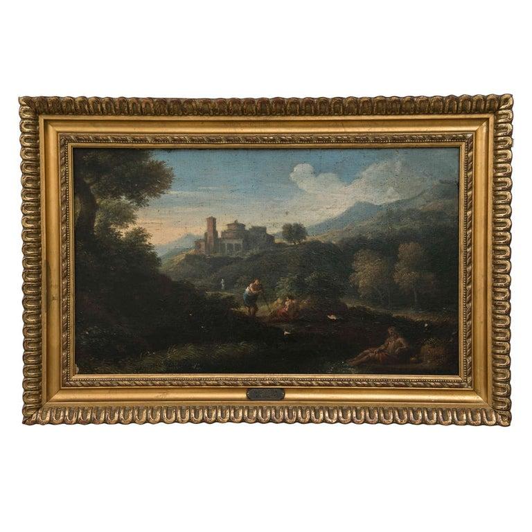 Jan Frans van Bloemen called Orizzonte (Antwerp 1662-Rome 1749), Roman Landscape For Sale