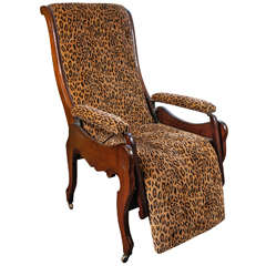 Mahogany Reclining Chair, circa 1850