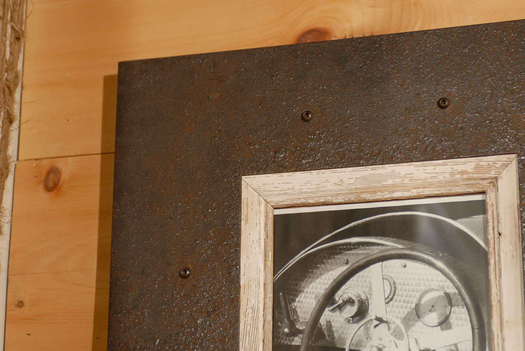 Reclaimed Steel Frame With Wood Trim Two Sizes Image 4