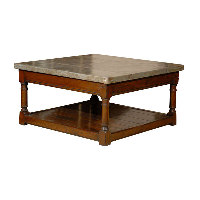 Zinc Top Highlands Coffee Table At 1stdibs